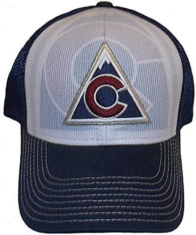L//XL MZ509 Navy Blue//White Reebok Colorado Avalanche Structured Flex Hat