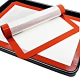 reusable baking paper sheet - SENHAI Premium Silicone Baking Mat for Healthy Cooking, Parchment Paper Replacement for Cookies,Oven Reusable Liners sheet,Size 16.5