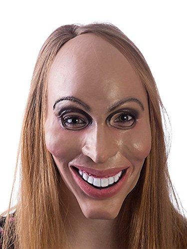 HMS Latex Rubber Creepy Female Eradicate Mask- One Size, 8.5