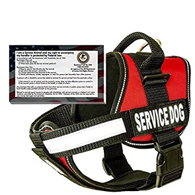 Real Service Dog Vest Harness + 50 FREE ADA Info Cards Kit