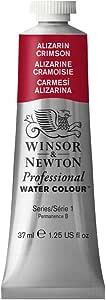 Winsor & Newton Professional Water Colour Paint, 37ml tube, Alizarin Crimson