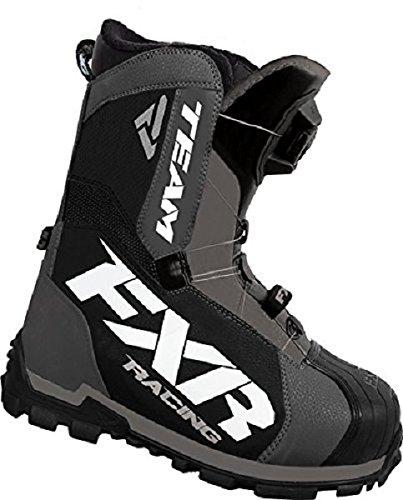 FXR Racing Team Boa Snowmobile Boot Charcoal/black Mens 10