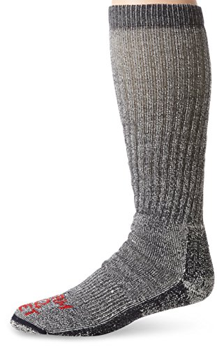 Farm to Feet Cedar Falls Extra Heavy Over The Calf Waders Socks, Wooly Blue, Large -