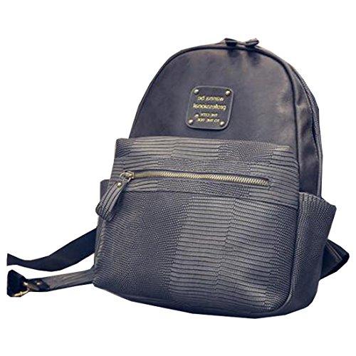 Partiss - Bolso mochila  para mujer gris oscuro