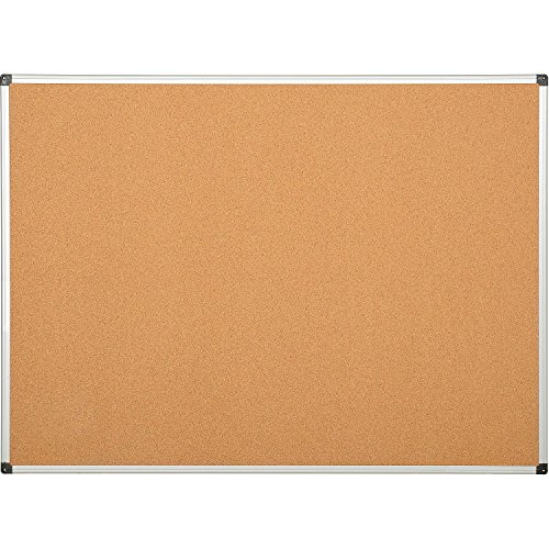 Cork Board - Aluminum Frame - 60 x 36 by Bi-Silque Visual Communication Products Inc