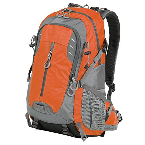 Xin.S40L Bolsas De Montaña Deportes Turismo Mochila Al Aire Libre Bolso De Hombro Bolsa De Ordenador Bolsa De Viaje Mochila Impermeable Multi-funcional. Multicolor Orange