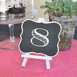 Framed Chalkboard Table Easels (10)