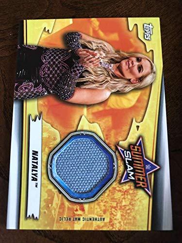 2019 WWE Topps SummerSlam Mat Relics #MR-NT Natalya MEM Official Wrestling Trading Card from WWE SummerSlam