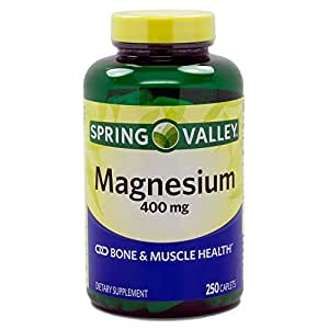 Amazon.com: Spring Valley Magnesium 400 Mg 250 Tablets by