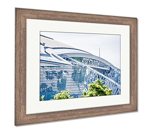 (Ashley Framed Prints April 2017 Arlington Texas ATT Nflcowboys Football Stadium, Wall Art Home Decoration, Color, 30x35 (Frame Size), Rustic Barn Wood Frame, AG6401344)