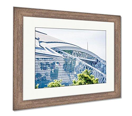 (Ashley Framed Prints April 2017 Arlington Texas ATT Nflcowboys Football Stadium, Wall Art Home Decoration, Color, 34x40 (Frame Size), Rustic Barn Wood Frame, AG6401344)
