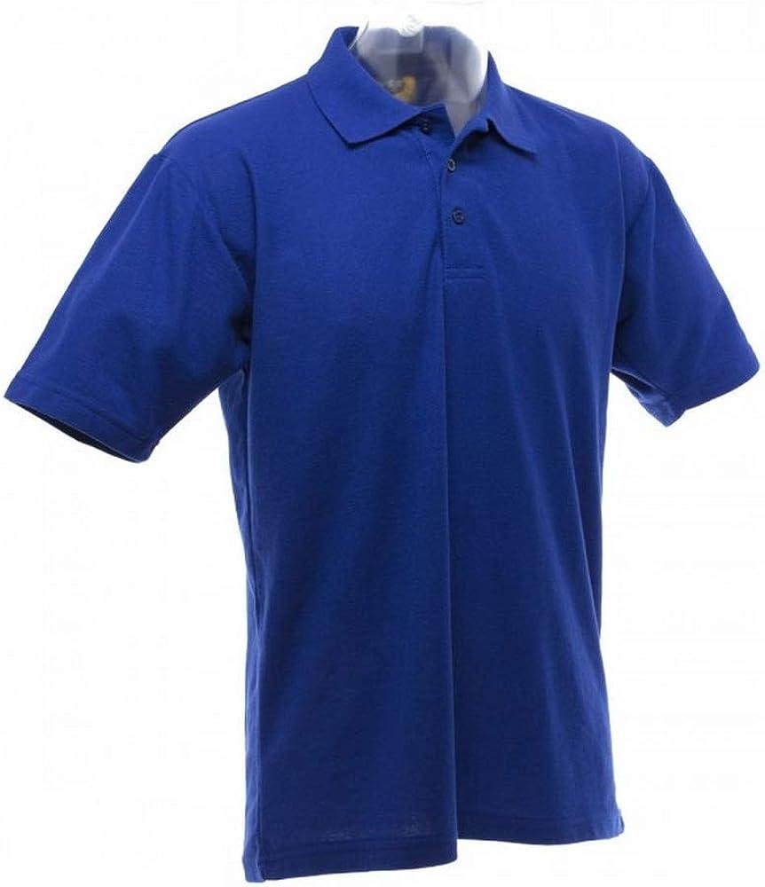 UCC 50/50 Mens Plain Piqué Short Sleeve Polo Shirt (4XL) (Royal)