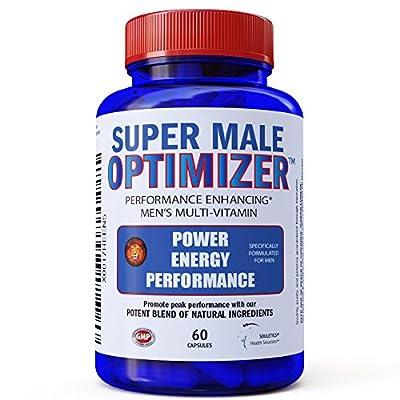 Super Male Optimizer Multivitamins for Men, Best Absorbable Multivitamin w/ Magnesium 300mg, Zinc 15mg, Phosphatidylserine 150 mg, Boron, Ashwagandha (Withania Somnifera) Natural Energy Supplement