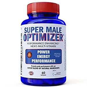 Super Male Optimizer Multivitamins for Men, Best Absorbable Multivitamin w/Magnesium 300mg, Zinc 15mg, Phosphatidylserine 150 mg, Boron, Ashwagandha (Withania Somnifera) Natural Energy Supplement