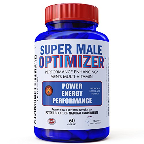 Super Male Optimizer Multivitamins for Men, Best Absorbable Multivitamin w/ Magnesium 300mg, Zinc 15mg, Phosphatidylserine 150 mg, Boron, Ashwagandha (Withania Somnifera) Natural Energy Supplement
