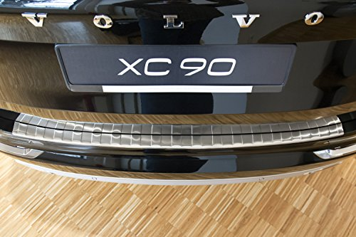 2016 – 2017 Volvo XC90- Brushed Stainless Steel Rear Bumper Protector Guard