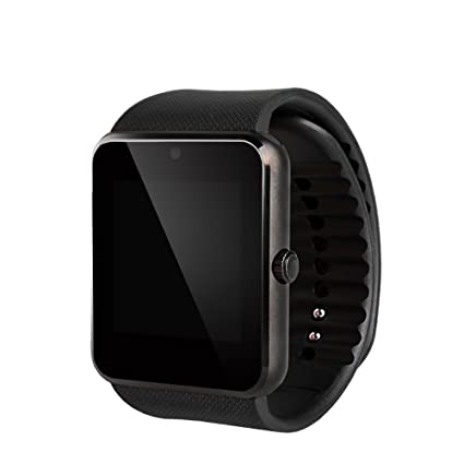 Zhaotian Montre smart GT08 avec support carte sim horloge sync Connectivité Bluetooth traqueur fitness pour téléphone Android, Apple iPhone: Amazon.fr: ...