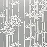 Bamboo Decorative Window Film, 36 inches by 72 inches