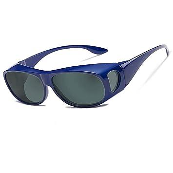 Gafas de sol deportivas polarizadas UV400,Gafas de Sol Para Colocar Sobre las Gafas Normales y de Lectura Hombre Mujer
