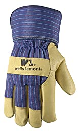 Wells Lamont Winter Work Gloves, 100 Gram Insulated Leather Palm Grain, Large (5235L)