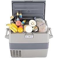 SMETA Portable Car Compressor Refrigerator/Freezer for Truck Boat Party Travel Picnic Outdoor,1.8 Cu.ft,AC110V/DC12V/24V