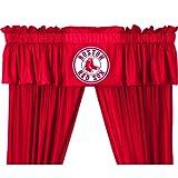 MLB Boston Red Sox Baseball - 5pc Boys Jersey Drapes and Valance
