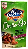 Blue Diamond Almonds 100 Calories Packs - 42 Small Grab and Go Bags, Whole Natural (.625 Oz. Bags)