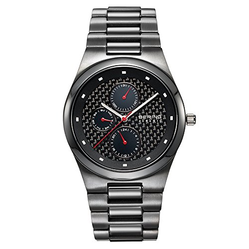 BERING Time 32339-782 Men's Ceramic Collection Watch with Ceramic Link Band and scratch resistant sapphire crystal. Designed in Denmark.
