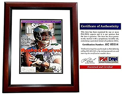 ed3af46e48a Jim McMahon Autographed Signed Philadelphia Eagles 1991 Original Sports  Illustrated Cover Mahogany Custom Frame - PSA