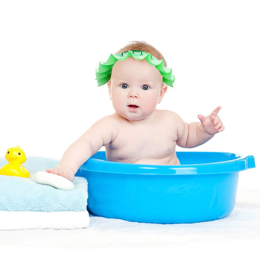 Hair Cut Beach Soft and Adjustable Baby Shampoo Toddlers Bath Shower Cap Baby Shower Cap Baby Shampoo hat Silicone Shower Cap Bathing Pool Showers