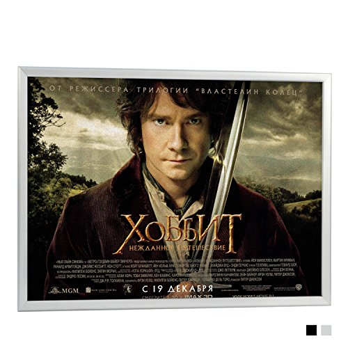 "T-Sign 27 x 40 Inches Professional Aluminum Snap Movie Poster Frame-1.25"" Profile Wall Mounted Black, Front Load Easy Open with Non-glare PVC - Glare Anti Frame"
