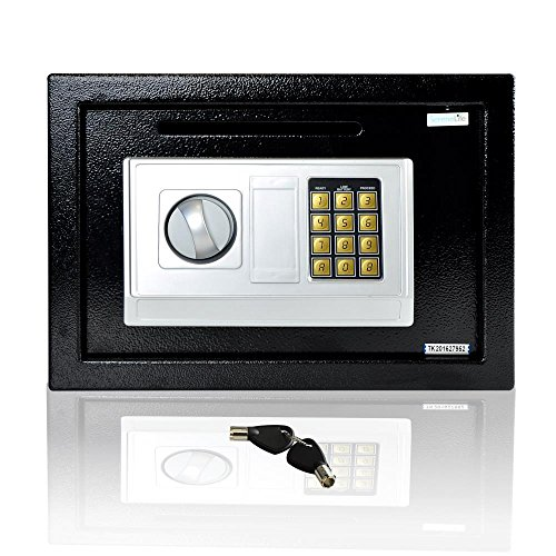 SereneLife Drop Box Safe Box | Safes & Lock Boxes | Front Loading Safe Cash Vault Drop Lock | Safe Security Box | Digital Safe Box | Money Safe Box | Steel Alloy Drop Safe Includes Keys (SLSFE342) ()