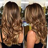 You Shine Hair Topper Highlights 12Inch 4 Fading to 27 Highlight With 4 Base Size 9.5x10cm Hair Topper Short Crown Topper Hair Extensions