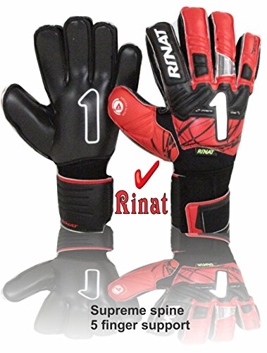 Rinat Goalkeeper gloves Supreme spine 2.0 (red size 8) 5 finger (Red Spine)