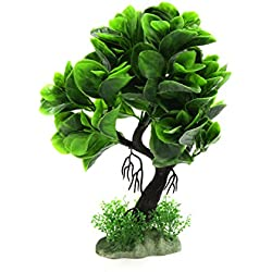 uxcell Green Decorative Tree Plant Aquarium Fish Tank Landscape Decor for Aquatic Betta Pets