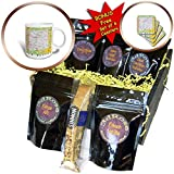 3dRose Lens Art by Florene - Topo Maps, Flags of States - Image of New Mexico Topographic Map With Flag - Coffee Gift Baskets - Coffee Gift Basket (cgb_291415_1)