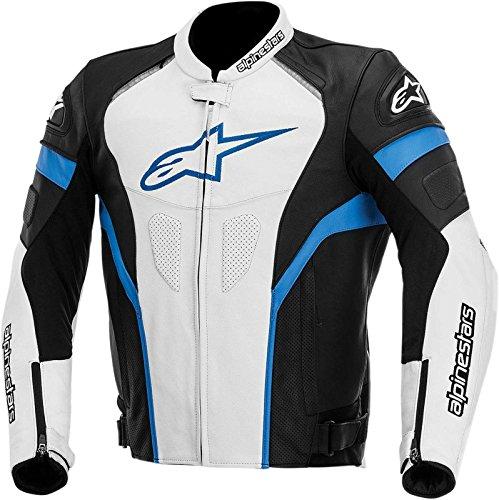 Alpinestars GP Plus R Leather Men's Riding Jacket (Black/White/Blue, Size 54)