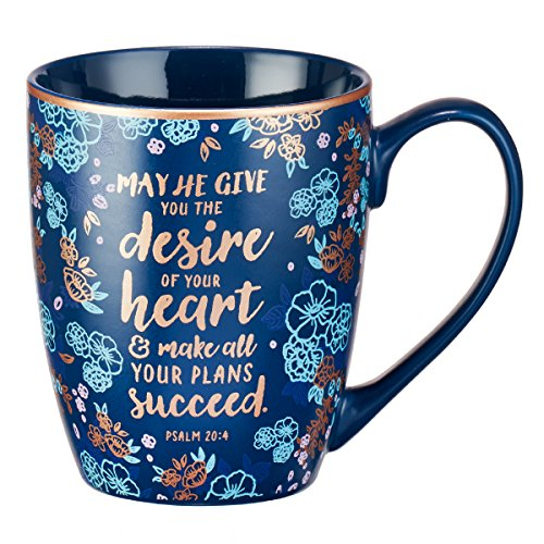 Mug - The Desire of Your Heart, Blue Angel Ceramic Travel Mug