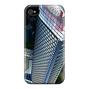 Hot Tpu Covers Cases For Iphone/ 4/4s Cases Covers Skin - 3d Skyscraper