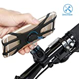 """Amorvue Bicycle Phone for Phone 360°Rotation Silicone Bicycle Phone Holder Suitable for 4.0""""-6.0"""" Phones iPhone X 8 7 6 5 Plus"""