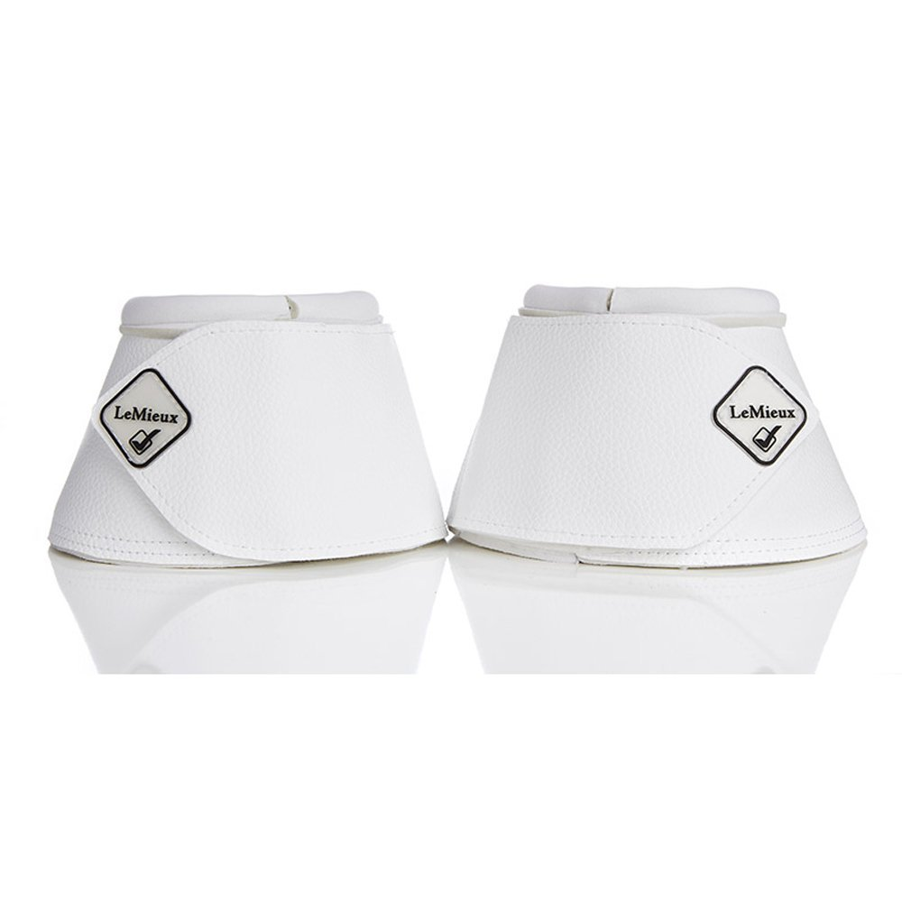 Lemieux Leather Wrap Round Over Reach Boots Large White
