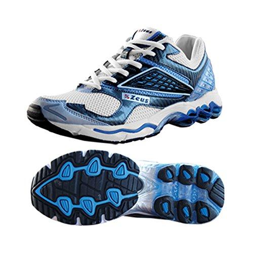 Zeus thunder chaussures de marche-homme-chaussure sport relax royaL/llanc, WEISS-ROYAL (Bleu) - HERMES