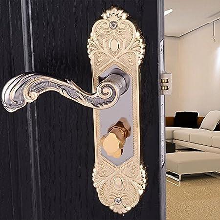 Vanme European Style Interior Door Lock Door Lock Handle Locks The