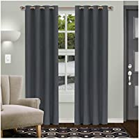 2 Set Superior Solid Blackout Curtain (Multiple Colors)