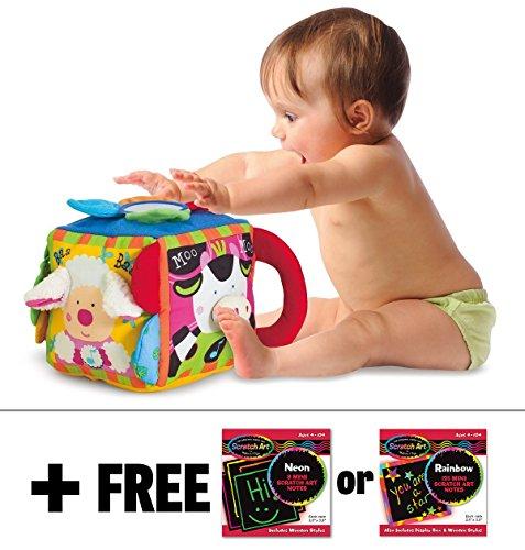 K's Kids Musical Farmyard Cube + FREE Melissa & Doug Scratch Art Mini-Pad Bundle [91770]