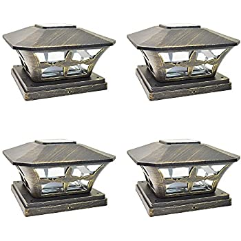 Iglow 4 Pack Vintage Bronze Garden 6 X 6 Solar Smd Led