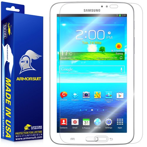 ArmorSuit Samsung Galaxy Tab 3 7.0 Tablet Screen Protector Max Coverage MilitaryShield Screen Protector For Galaxy Tab 3 7.0 Tablet - HD Clear Anti-Bubble