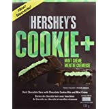 HERSHEY'S Cookie + Dark Christmas Chocolate Candy Bars, Mint Crème, Stocking Stuffer, 138 Gram