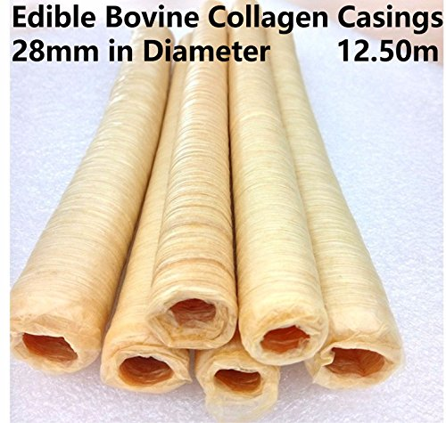 Edible Bovine Collagen Casings 28mm in Diameter Total Length 12.50M / 41 Ft