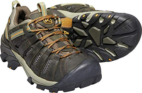 KEEN Men's Voyageur Trail Shoe, Black Olive/ Inca Gold, 11 M US from KEEN